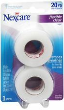 Nexcare First Aid Flexible Clear Tape 1 Inch X 10 Yards, 2ea