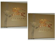 Burberry Large Two Gift Boxes Includes Top and Lid with Ribbon Tissue Paper