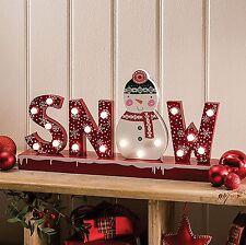 """18 led blanc chaud fenêtre lumière """"neige"""" signe de noël de noël table lampe lumières"""