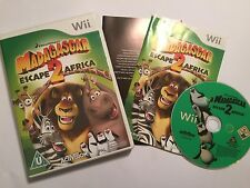 NINTENDO Wii GAME MADAGASCAR ESCAPE 2 AFRICA +BOX INSTRUCTIONS COMPLETE PAL
