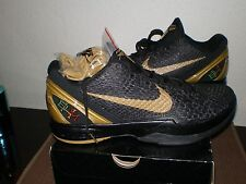 "Zoom Kobe VI BHM - ""Black History Month""  Black/Metallic Gold, US mens size 12"