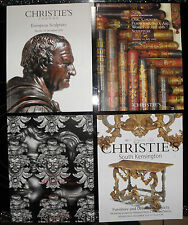 Christies catalogue - x4, furniture and decorative objects, art sculptur.  f111
