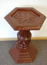 STATUE TELEPHONE LAMP STAND COLUMN PILLAR HANDCARVED WOODEN PLINTH PEDESTAL POST