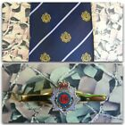 Royal Army Service Corps (Crest) Tie And Tie Bar Set RASC Queens Crown Version 1