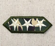 Iron On Applique Embroidered Patch Military Green Camo Three Stars