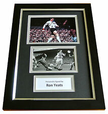 RON YEATS Signed A4 FRAMED Photo Autograph Display LIVERPOOL Football LFC & COA
