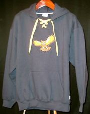 New L Embroidered Sweatshirt Great Horned Owl with Hood -- Item 130