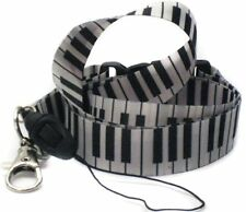 "Unisex Black and White Musical Notes Piano Keys 15"" Lanyard-New with Tags!!!"