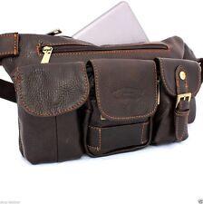 Genuine vintage Leather Shoulder wallet Bag man woman Pocket Waist Pouch skin s