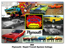 The Plymouth Rapid Transit System 13x19 Poster Road Runner GTX Cuda Duster 1970