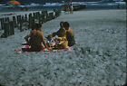 Family at the Beach - c1950s - Vintage 35mm Red Border Slide
