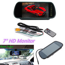 "HD 7"" LCD Color Screen Car Reversing Rear View Backup Camera DVD Monitor Mirror"
