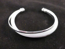 Highly Polished & Silver Plated Mesh Cuff / Bangle / Bracelet + Free Gift Bag