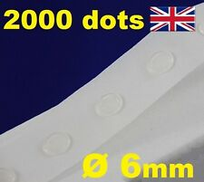 NEW 2000 Glue Dots Sticky Craft Clear Card Making Scrap Removable 6mm STRONG