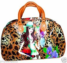 LATEST FASHION DIVA PRINT SHOPPING TRAVELLING /SHOULDER BAG PU LEATHER.