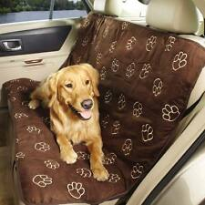 Guardian Gear Pawprint Design Pet Car Seat Cover Chocolate for Dogs and Cats