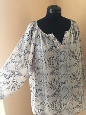 Womens Pastel Color Snake Skin Pattern Blouse By: Soiree. Plus Size: 3X