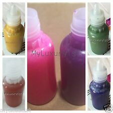 6 Melt & Pour Glycerin Soap Pigment Color Yellow Orange Pink Plum Green Blu 5 ml