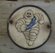 MICHELIN Tire Advertising Sign Cast Iron 3D Michelin Man Gas Station Tire Shop