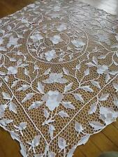 Stunning Antique Point de Venice Needle Lace Table Cloth