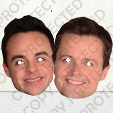 Ant and Dec Celebrity Face Masks - Great for Parties - 1st Class Post #MP6