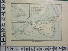 HISTORICAL MAP BATTLE PLAN + TEXT ~ FIRST PUNIC WAR 264-242 BC SICILY
