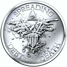1 OZ WARBIRD .999 SILVER BULLET SILVER SHIELD NEW RELEASE DEBT AND DEATH SBSS