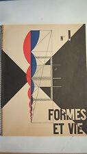 LE CORBUSIER REVUE FORMES et VIE No 1 de 1951 FERNAND LEGER MICHEL RAGON