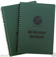 """2 Pack All-Weather PVC Waterproof 6""""x8"""" Rothco Tactical Notebook - Best Buy"""