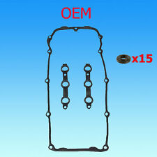 BMW OEM VALVE COVER GASKET SET w/15 BOLT SEALS E46 E39 Z3
