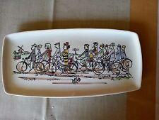 Vintage BICYCLES PLATTER TRAY HOLLAND KONINKLIJK GOUDA GOUDEWAAGEN