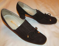 50's Marty Fuerst designer mod suede comfort pin up shoes 9 N Italy