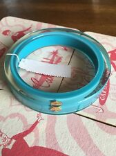 Authentic Kate Spade Lucite Bangle Bracelet Retro Aqua Blue