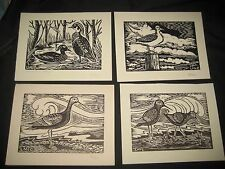 7 Nature block prints by Lorena McCleary           bs