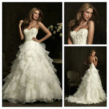 Sweetheart Organza Ruffle Wedding Dresses Bridal Gowns New Arrival custom made