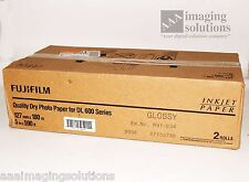 "Fujifilm GLOSSY Dry Inkjet Photo Paper 5"" x 590' for Dry Minilab DL600 Case of 2"