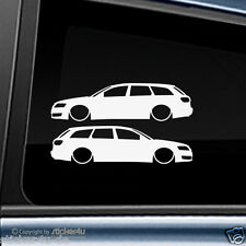 (957) 2x Fun Sticker Aufkleber / Low and Slow Audi A6 4f Avant RS6