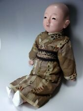 Antique Japanese Meiji Taisho Era Ichimatsu Gofun Boy Doll