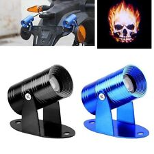 3D Universal Ghost Rider Flaming Skull Logo Motorcycle Projector LED Light 9-14V