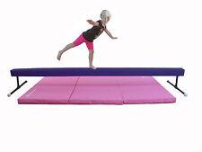 Balance Beam Purple 8 foot long 1 foot high / Pink Mat Combo