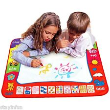 Children Aqua Doodle Drawing Toys 1 Painting Mat with 2 Water Drawing Pen New