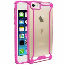 POETIC Affinity Series Premium Thin Bumper Case for Apple iPhone SE Pink/Clear