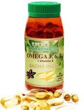 Sacha Inchi 1000mg - 60 soft gel caps Omega 3, 6, 9 + vitamin E
