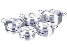 CASSEROLE COOKING DISH PAN STOCKPOT STEW 5-SAUCEPAN/POT+5 LID 2.3 Ltr to 8.4Ltr