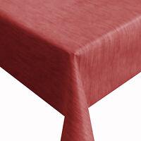 Wachstuch Robuste Leinen Prägung PRO Rot Breite 140 cm Tischdecke
