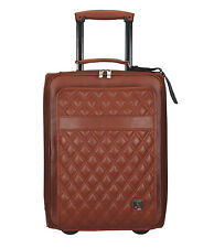 Adamis 100% Genuine Leather Travel Luggage Bag T53 Tan