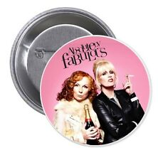 """ABSOLUTELY FABULOUS 2 ¼"""" PINBACK BUTTON EDDIE PATSY SAUNDERS LUMLEY AB FAB  BBC"""