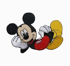 "#6769S 2-3/4"" Mickey Mouse Embroidery Iron On Applique Patch"