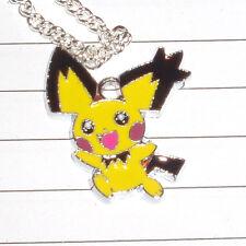 Kitsch Kawaii Super Cute Pokemon Pichu enamel charm necklace new
