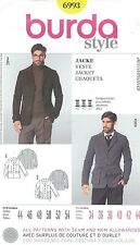 burda 6993 Men's Jacket Chest 34 to 44   Sewing Pattern